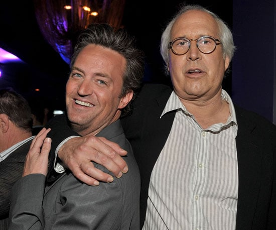 Slide Picture of Chevy Chase and Matthew Perry at Sony Pictures Party in LA
