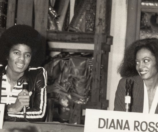 Michael and Diana Ross chatted at a press conference for The Wiz in NYC in 1977.