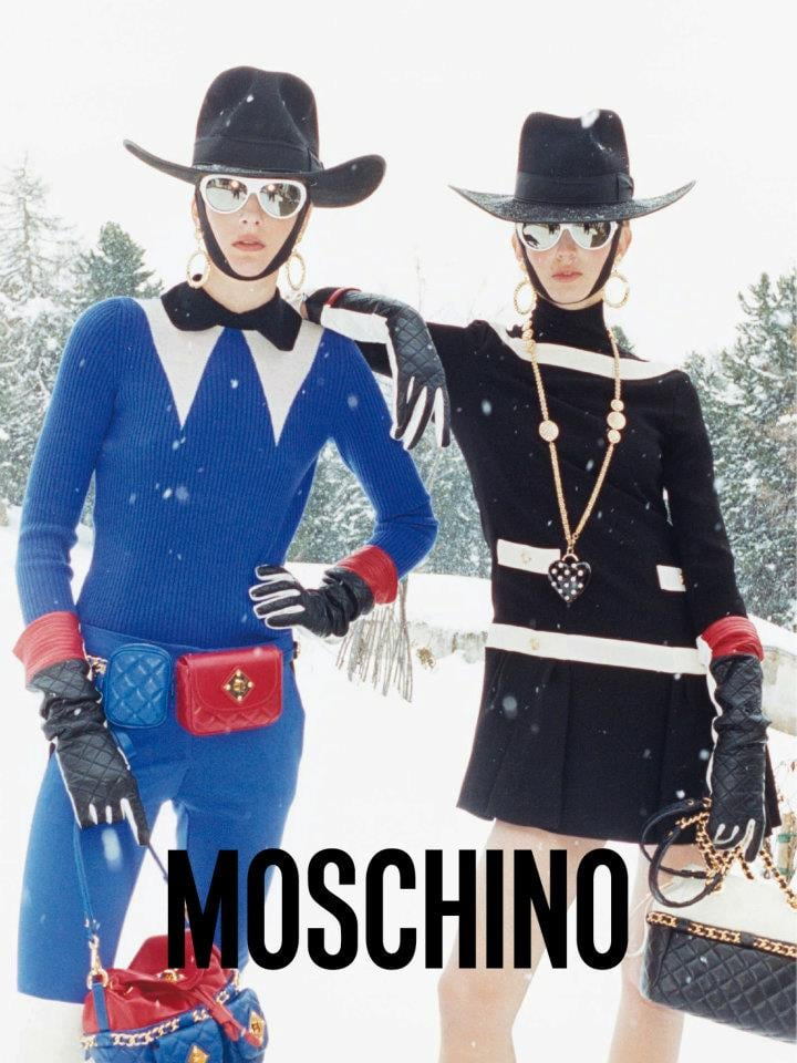 Moschino takes the Western cowgirl to the slopes for Fall/Winter.