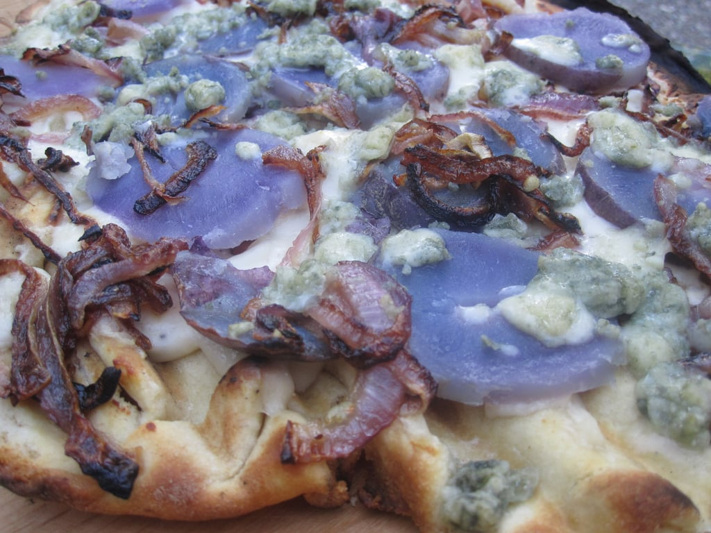 Grilled Red, White, and Blue Pizzas