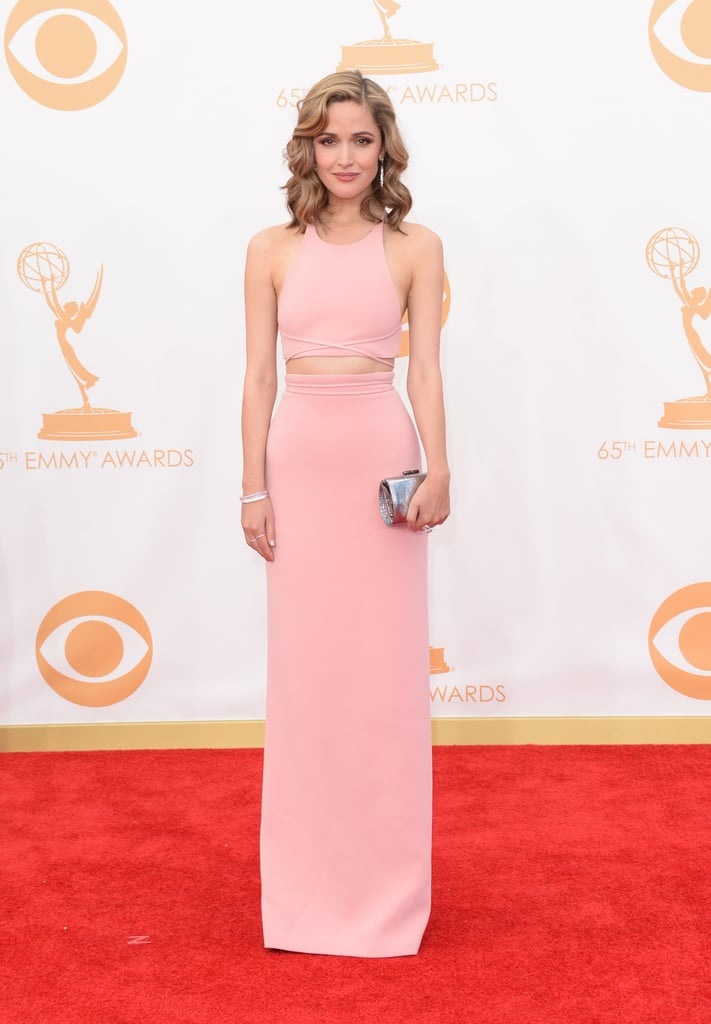 Rose Byrne flashed some stomach in this sleek Calvin Klein Collection style.