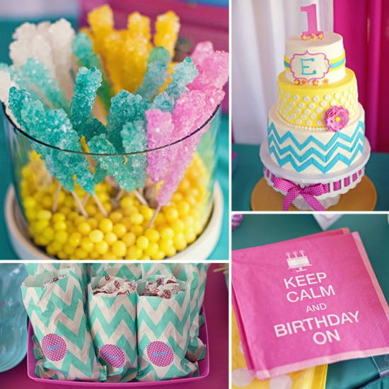 A Bold, Candy-Colored First Birthday Party