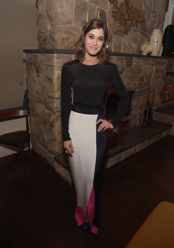 Lizzy Caplan posed at the Masters of Sex Summer TCA event on Wednesday in LA.