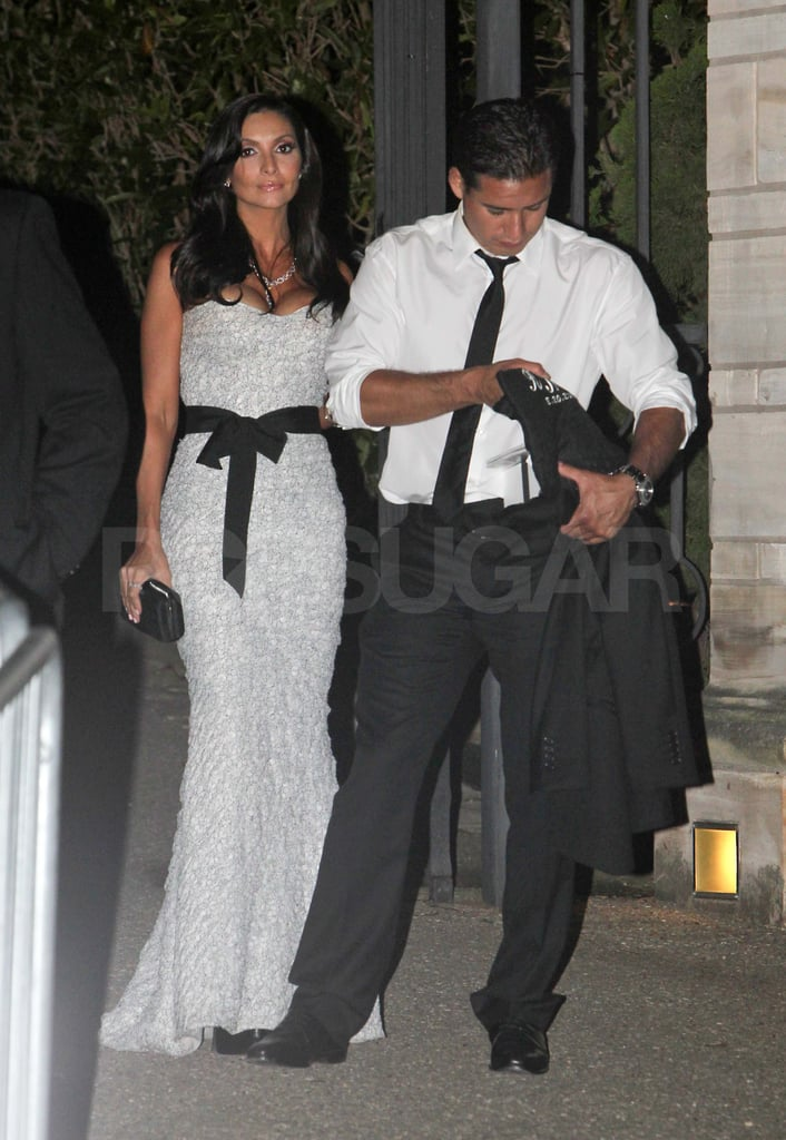 Mario Lopez and his girlfriend leave Kim Kardashian's wedding.