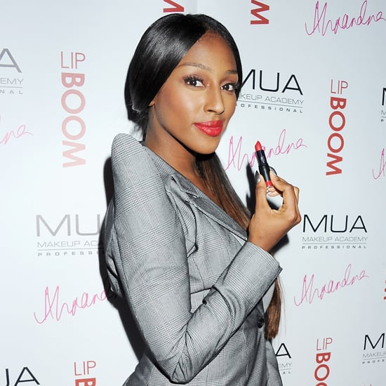 Alexandra Burke Lip Boom Range With Make Up Academy MUA