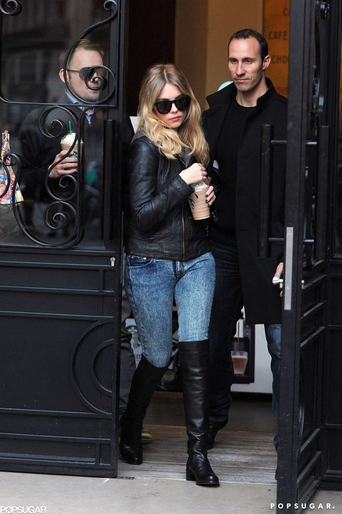 Ashley Benson stepped out for coffee earlier today.