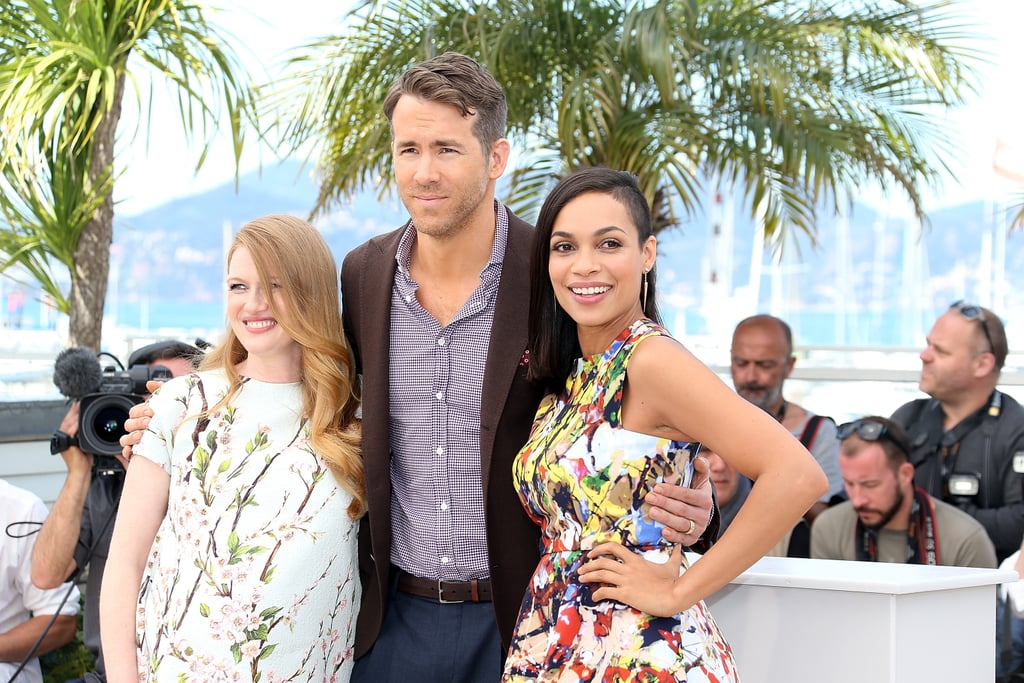Mireille Enos, Ryan Reynolds and Rosario Dawson got together for the The Captive photocall on Friday.