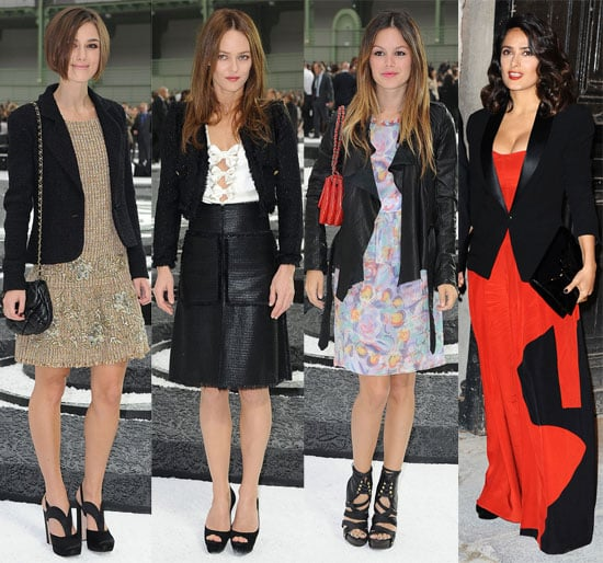 Pictures of Keira Knightley, Pregnant Lily Allen, Rachel Bilson, Salma Hayek, and More at 2011 Spring Paris Fashion Week