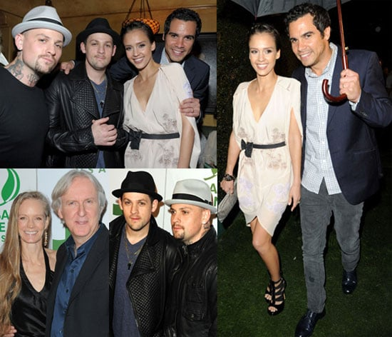 Photos of Jessica Alba, Cash Warren, Joel Madden, Benji Madden, James Cameron, Suzy Amis, Melanie Brown at a Global Green Party