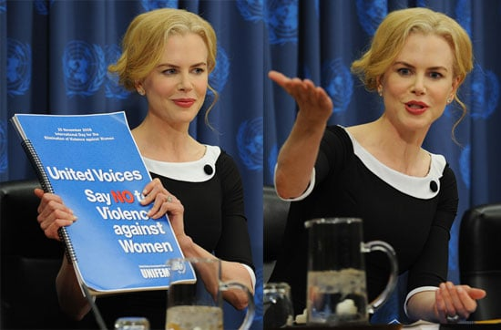 Photos of Nicole Kidman at the United Nations as UNIFEM Goodwill Ambassador