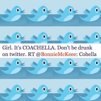 Celebrity Twitter Tweets About Coachella