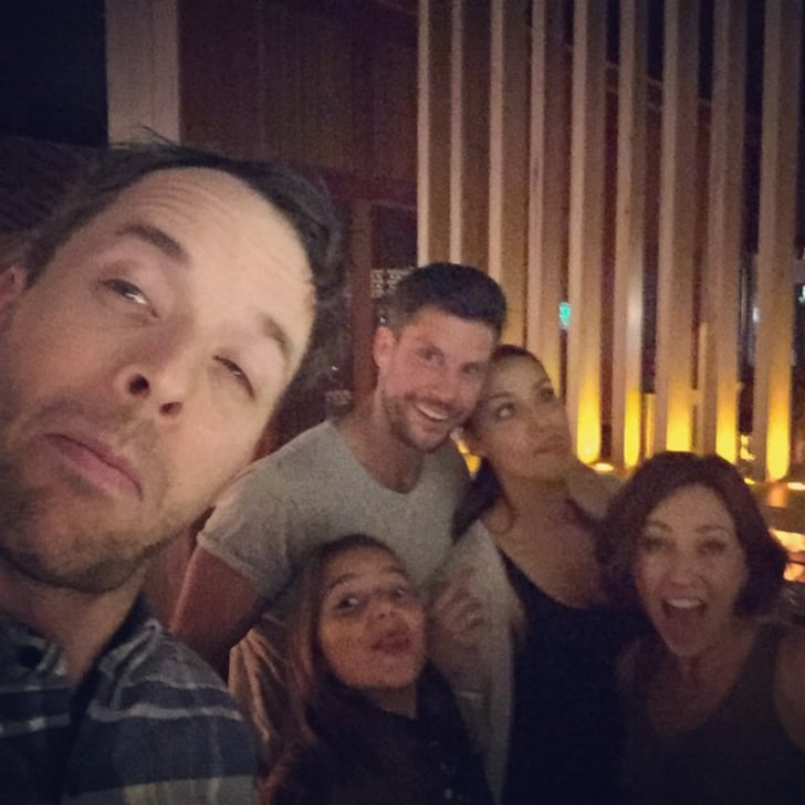 Hamish and Zoë bumped into The Bachelor's Sam Wood, Snezana Markoski and her daughter Eve out at dinner in Melbourne in Oct. 2015.