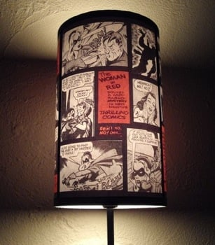 Comic Book Lampshade