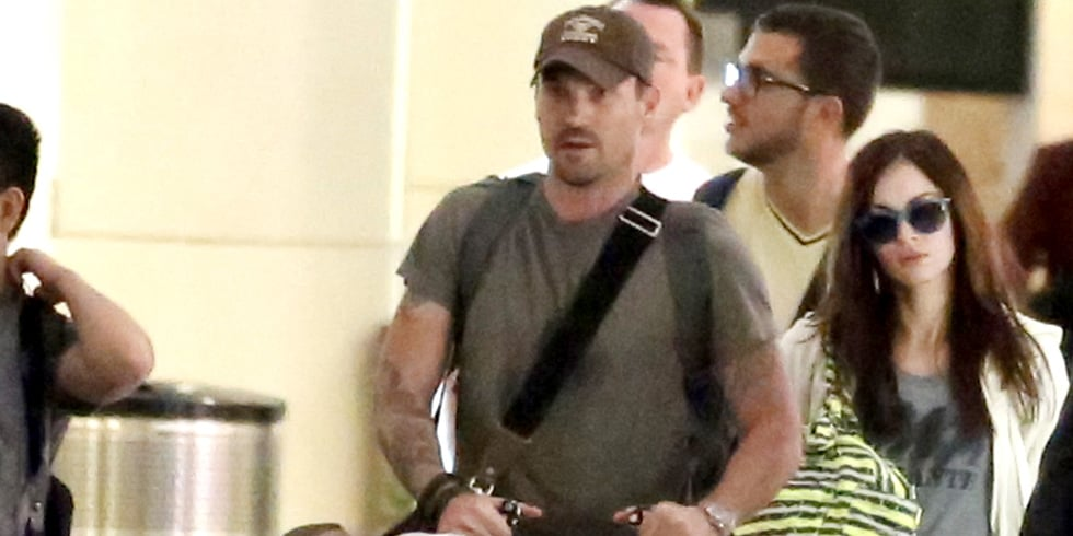 Megan Fox and Her Boys Jet Out of JFK Following Baby Number 2 News
