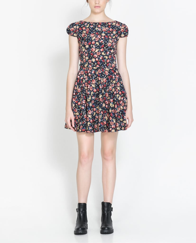 Our quintessential middle school dance dress looked something like this Zara Floral Print Dress ($60). Now, we'll give it a grown-up twist with tough-girl ankle boots.