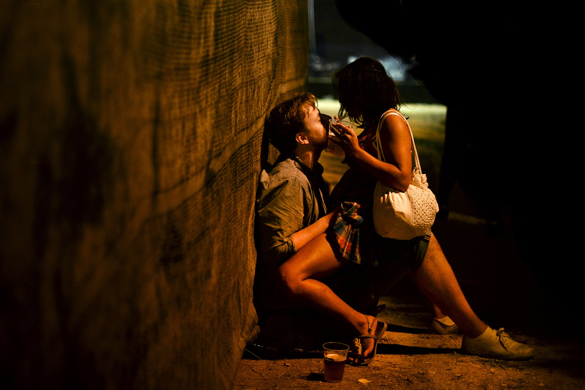 A couple had a moment together at a music festival in Portugal.
