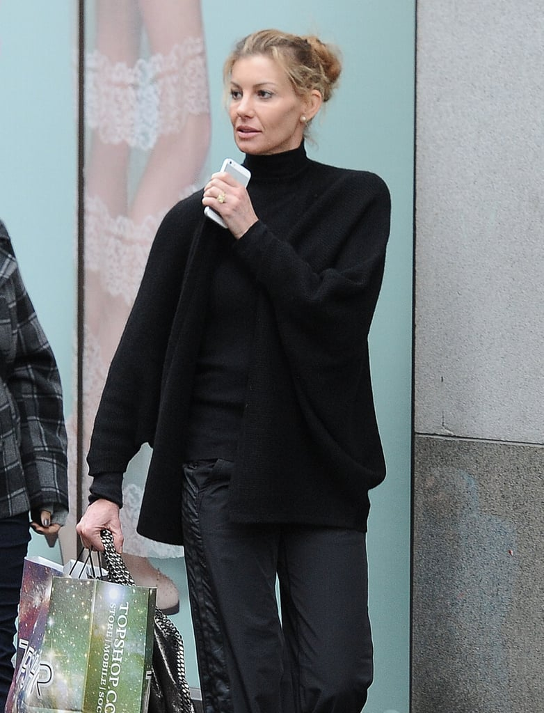 Faith Hill and Her Girls Go Shopping in London