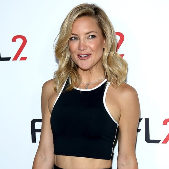 Kate Hudson Wearing a Crop Top and Skirt