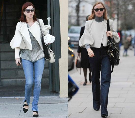 Stella McCartney and Kate Walsh Wear Same Stella McCartney Balloon-Sleeve Jacket