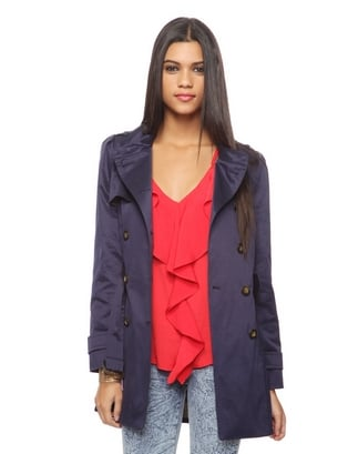 A budget-friendly option that has the look of something much more expensive.  Forever 21 Classic Belted Trench Coat ($33)