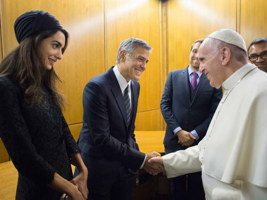 George and Amal Meet Pope Francis! The Clooneys Honored for Charity Work at the Vatican