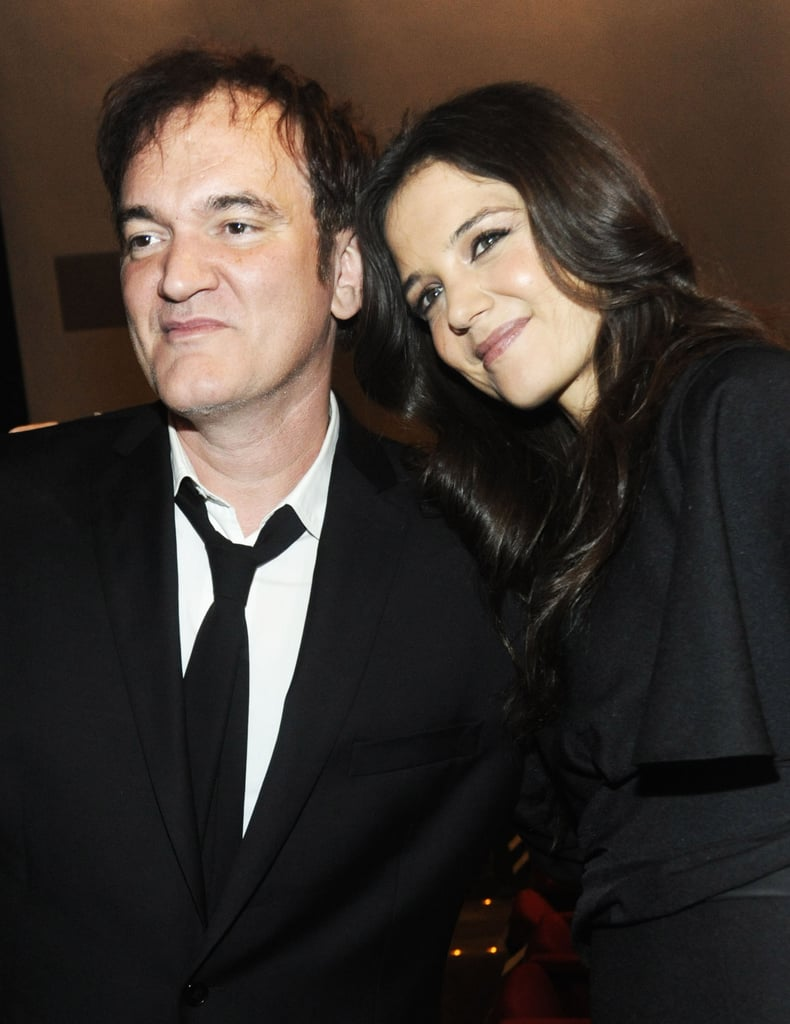 Katie Holmes posed with Quentin Tarantino at the Museum of Modern Art Film Benefit in NYC.