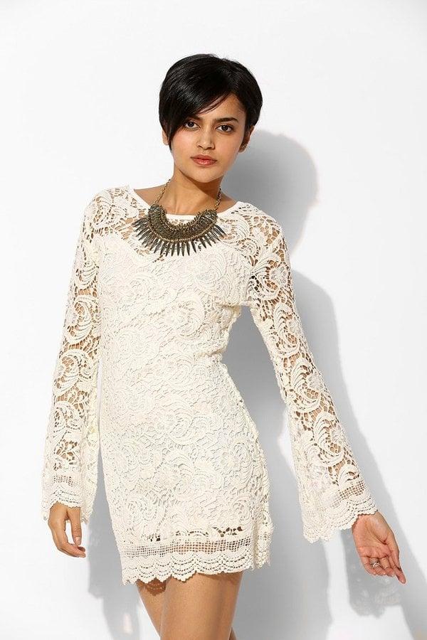 Lovecat White Lace Dress