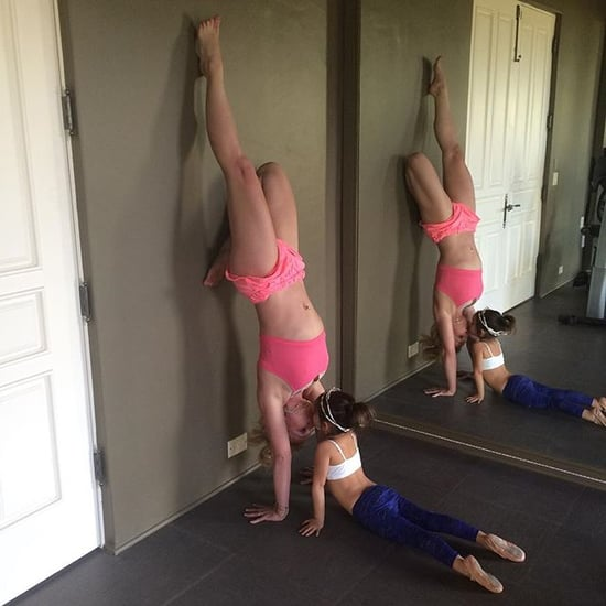 Britney Spears Doing a Handstand on Instagram