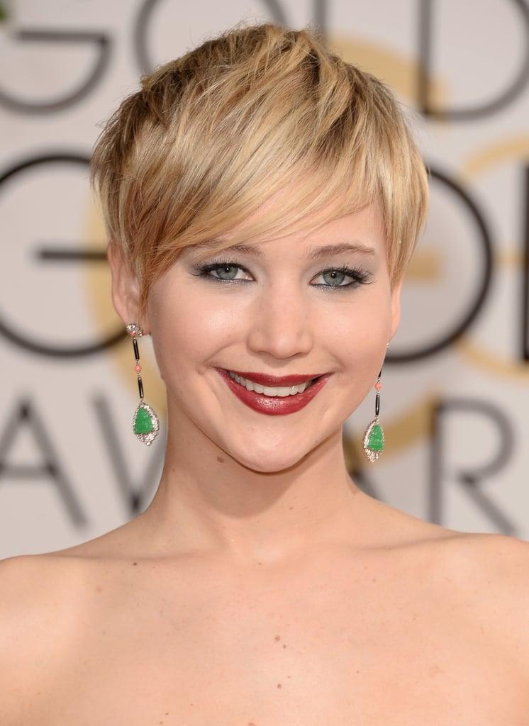 Jennifer Lawrence at the Golden Globe Awards