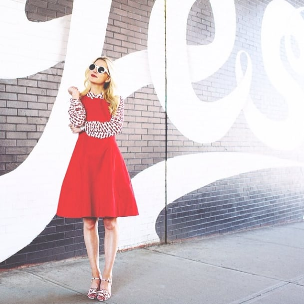 Repurpose your favorite sleeveless dress with a collared blouse underneath, and take it right to the office. Source: Instagram user blaireadiebee