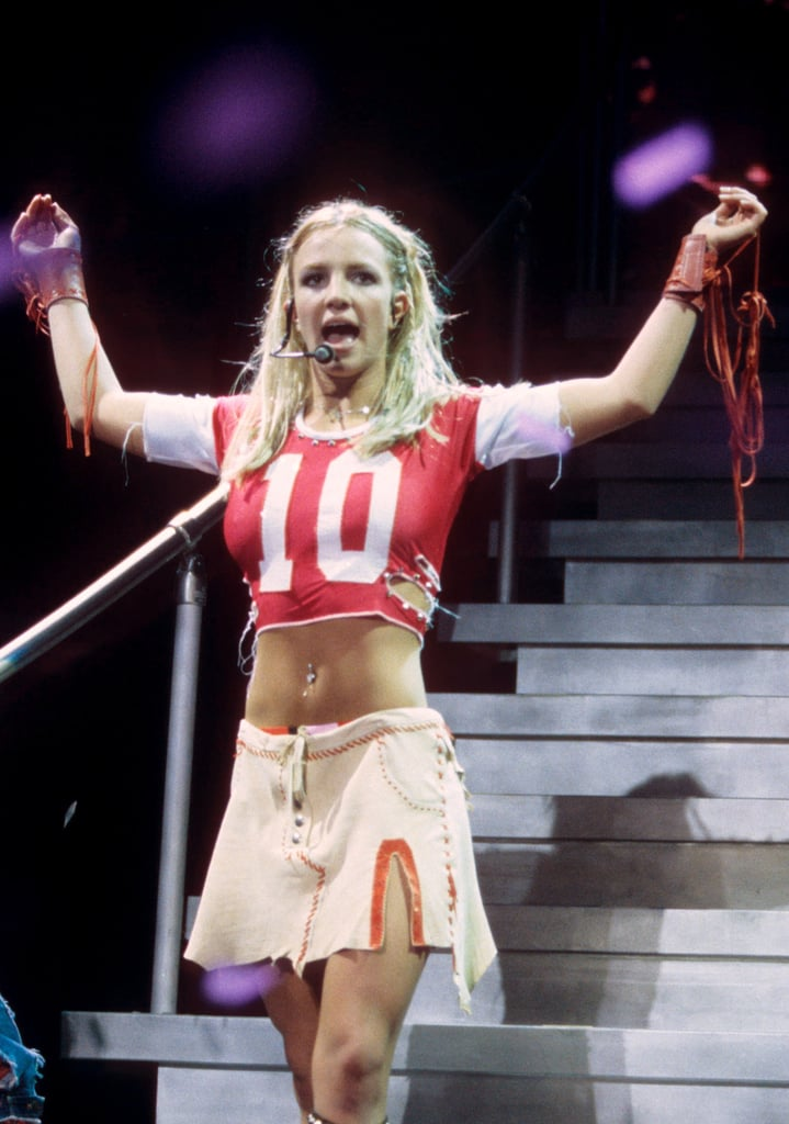 Her athletic-inspired outfit took a sexy turn at a June 2000 concert in Maryland.