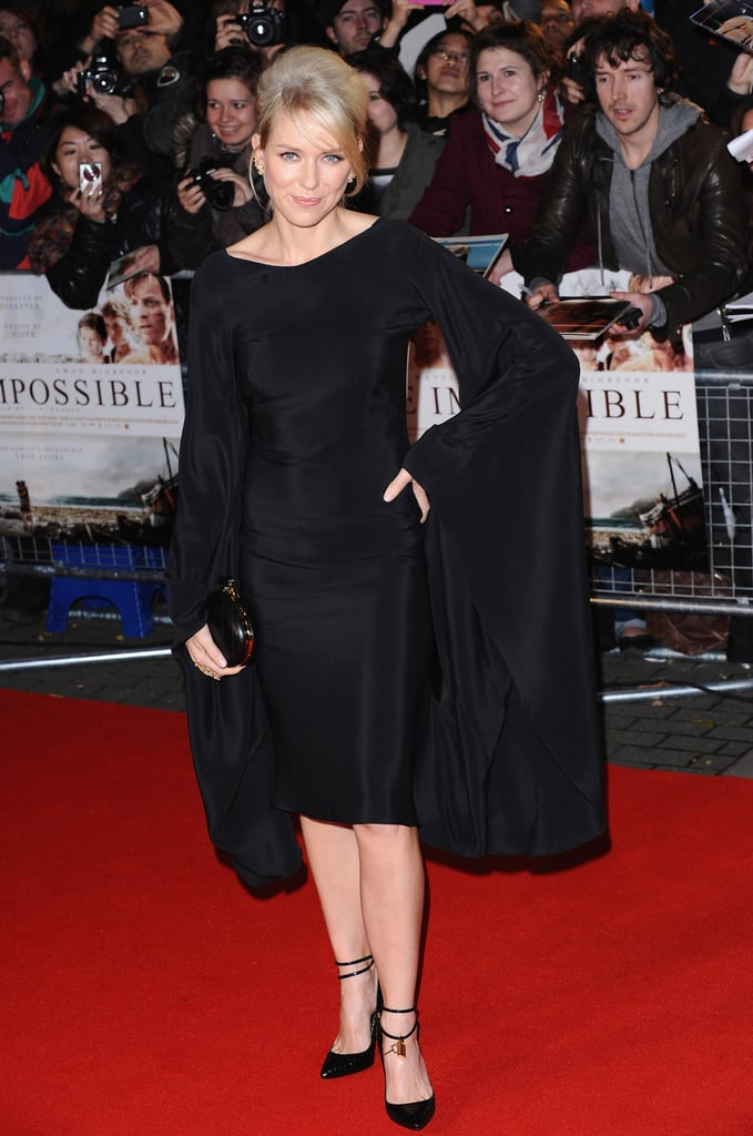 Naomi Watts attended a London premiere.