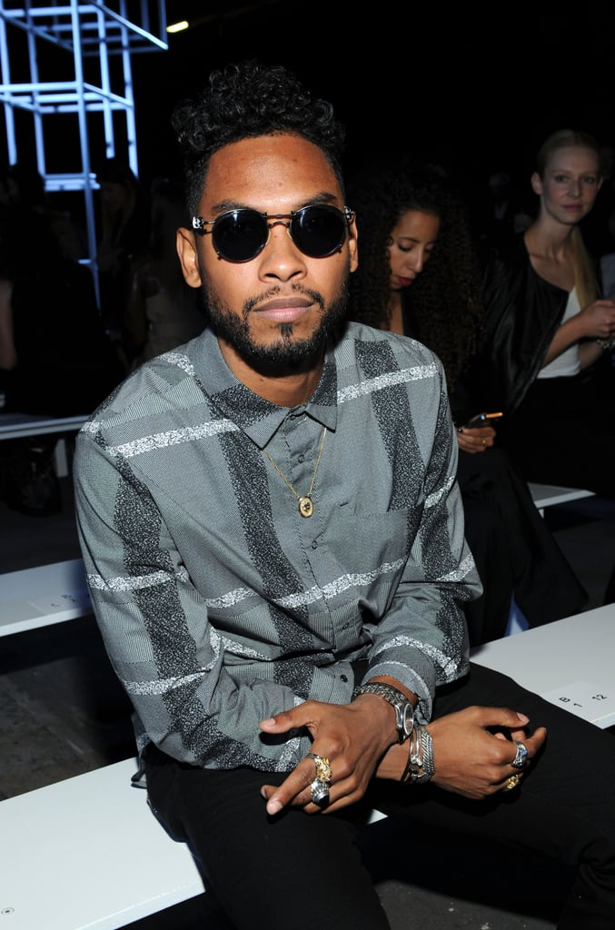 Miguel was front row for Alexander Wang on Saturday night.