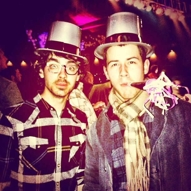 Joe and Nick Jonas rang in the new year together. Source: Instagram user adamjosephj