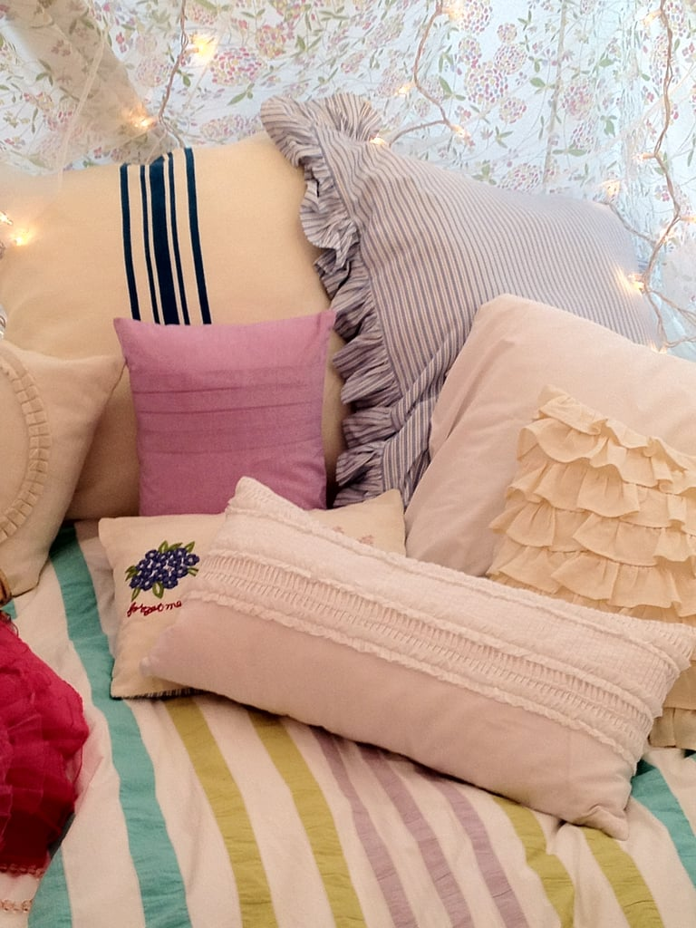 Soft and Quiet: Sherbet Stripe Duvet Cover and Pillows