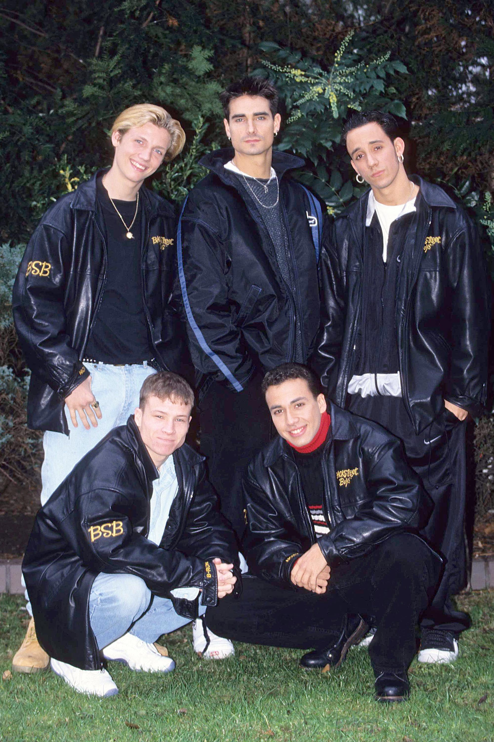 "Start with these ""BSB"" leather jackets."