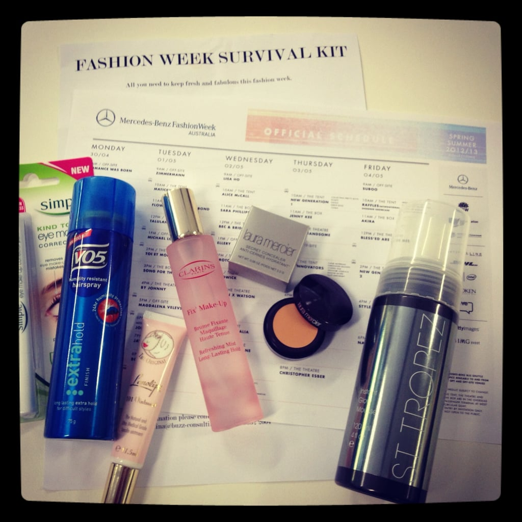 A much needed Fashion Week survival kit from Buzz PR.