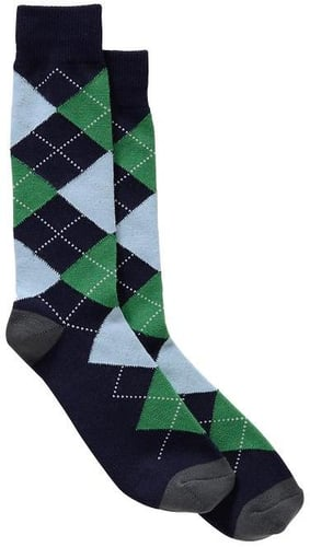 Fun argyle crew socks