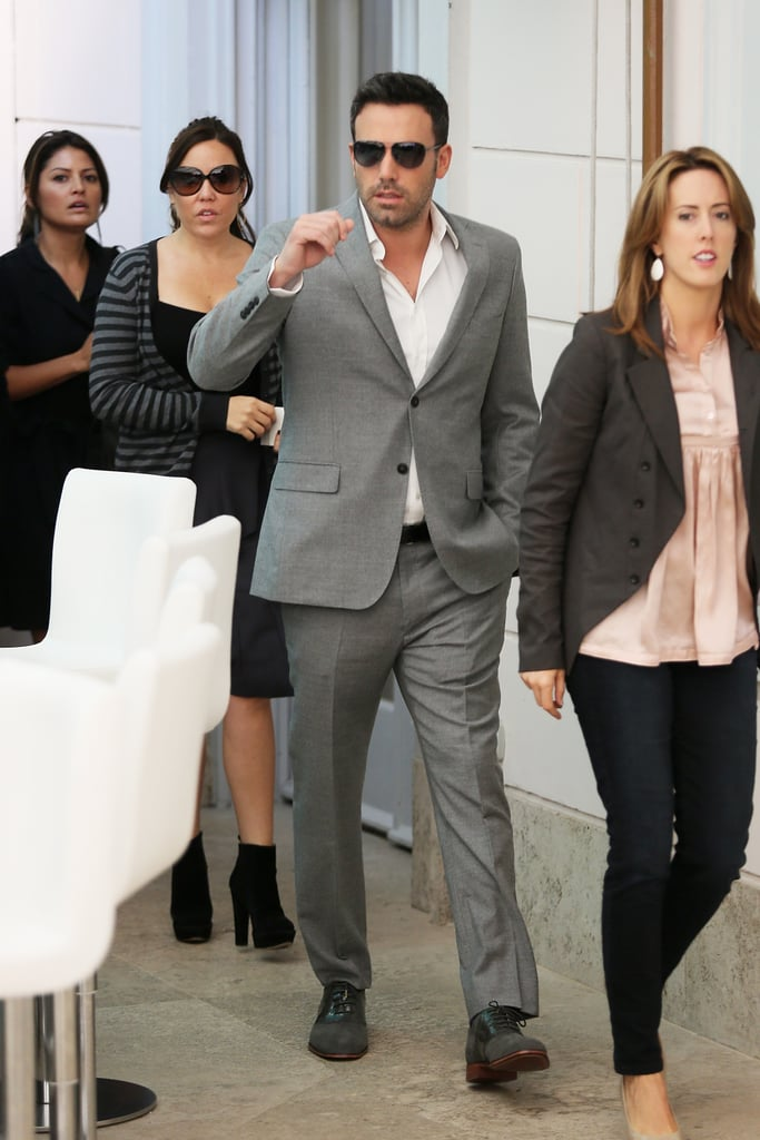 Ben Affleck was in Rome to promote his latest project Argo.