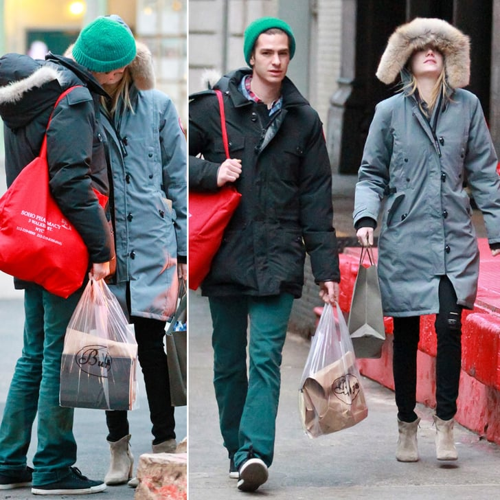 Emma and Andrew Take Time Off From Spider-Man For a PDA Lunch