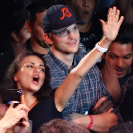 Mila Kunis and Ashton Kutcher at the Madonna Concert in LA
