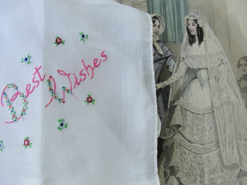 Those wedding day tears won't dry themselves, so a hand-embroidered handkerchief ($28) would be a welcome addition to your arsenal.