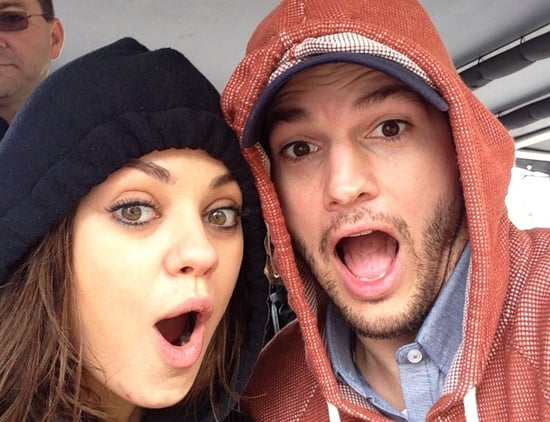 Ashton Kutcher and Mila Kunis's Cute Social Media Pictures