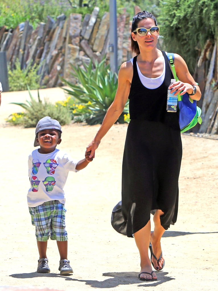 Sandra Bullock and her son, Louis, spent a day at the Natural History Museum in LA.
