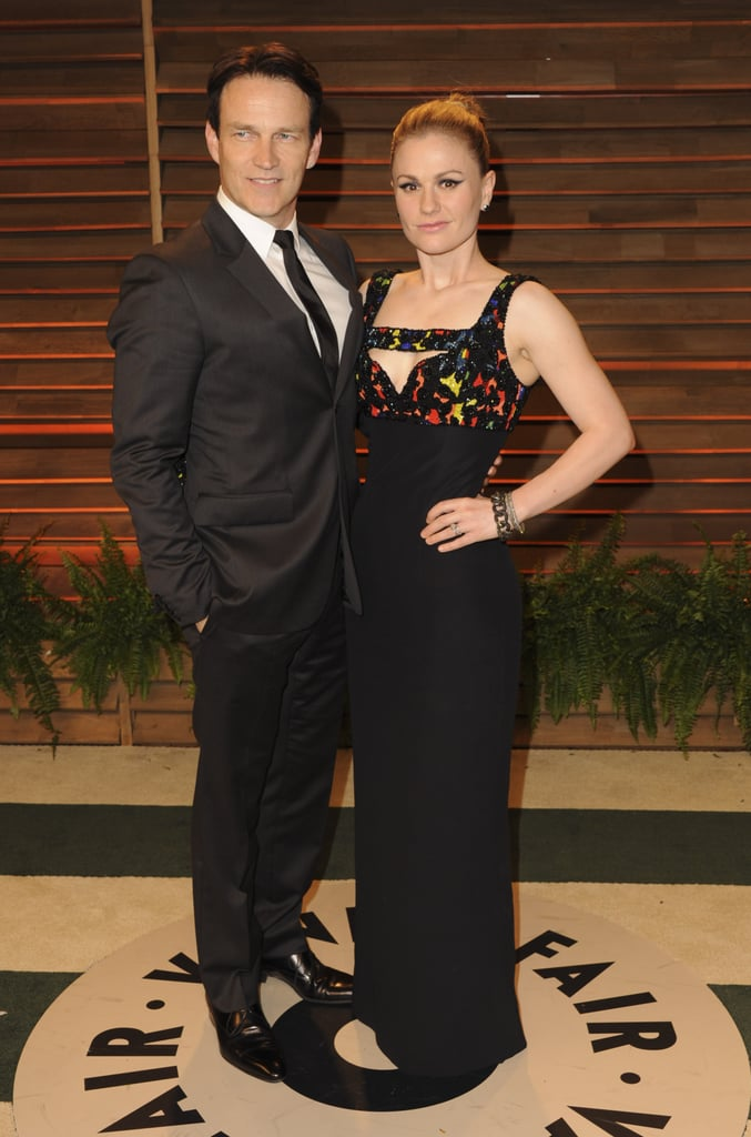 Anna Paquin and Stephen Moyer hit their second party of the night.
