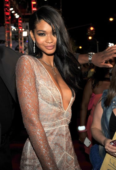 Chanel-Iman-went-sultry-combination-sideswept-strands