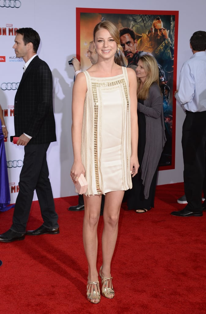 Emily VanCamp attended the Iron Man 3 premiere in LA.