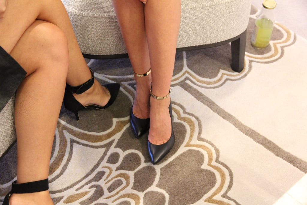 We spot a trend! Pointy-toed pumps all-round.