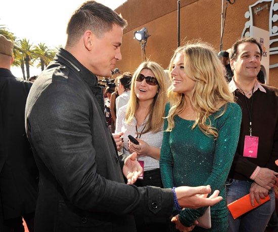 Channing Tatum and Sienna Miller laughed on 2008's red carpet where they were on hand to promote GI Joe.