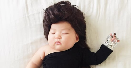 Mom Dresses Her Sleeping Baby as Celebrities, Cartoon Characters